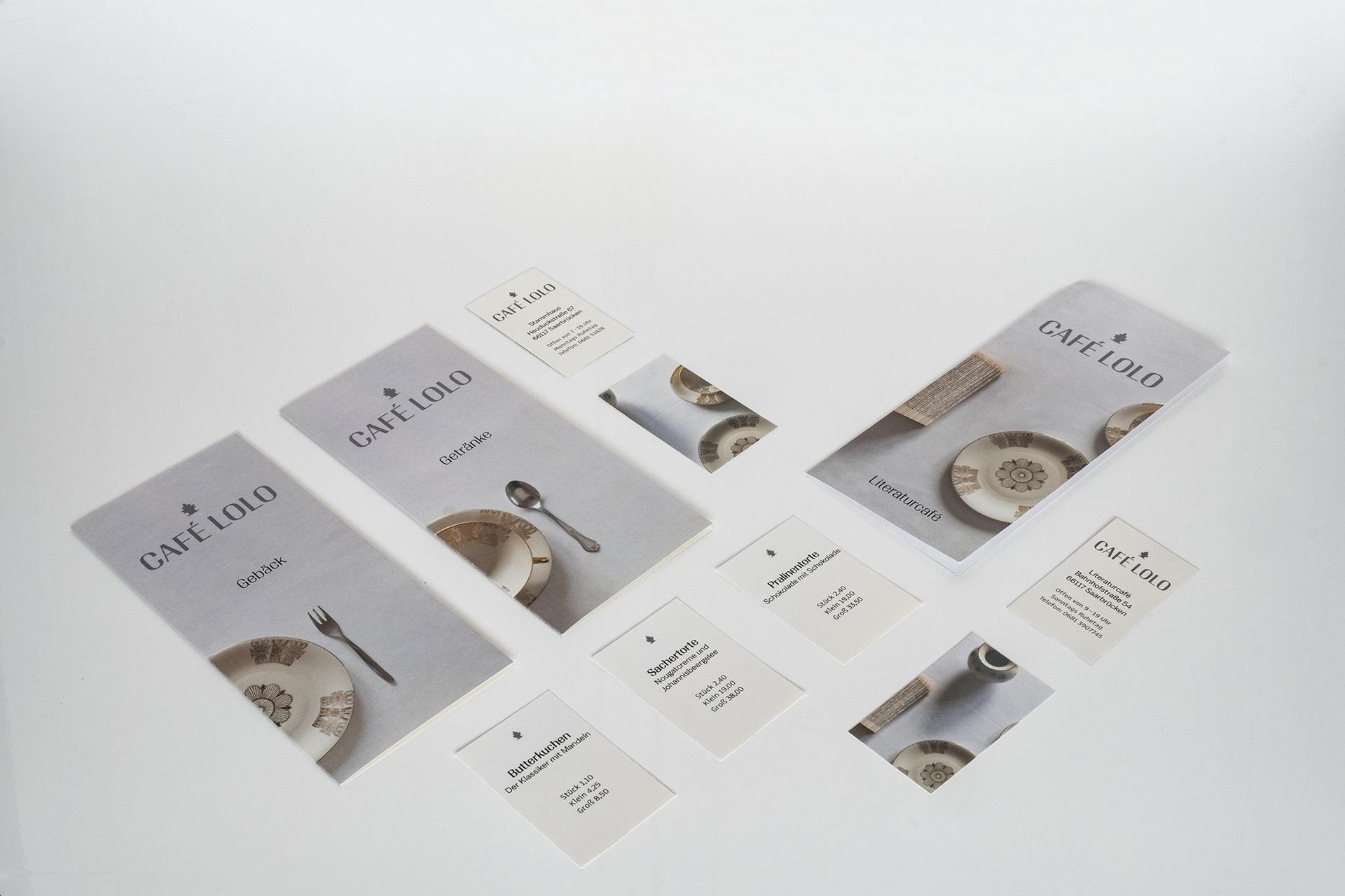 Cafe Lolo Restaurant Staionary Redesign, Sebastian Knöbber